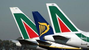 alitalia ryanair aerei aeroporti