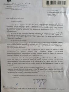 Lettera Unar a Bernardini