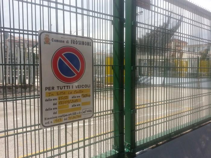 Zona_Stadio_frosinone_ Divieto di sosta