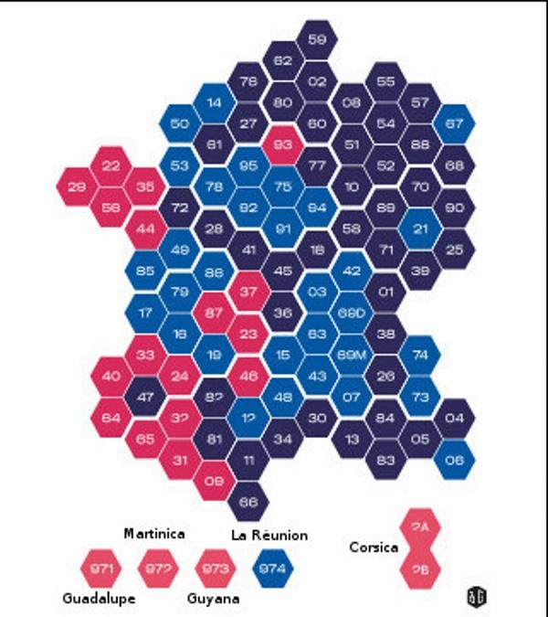 Dipartimenti Francia Cartina.Elezioni In Francia Incoronano Marine Le Pen Ecco La Mappa