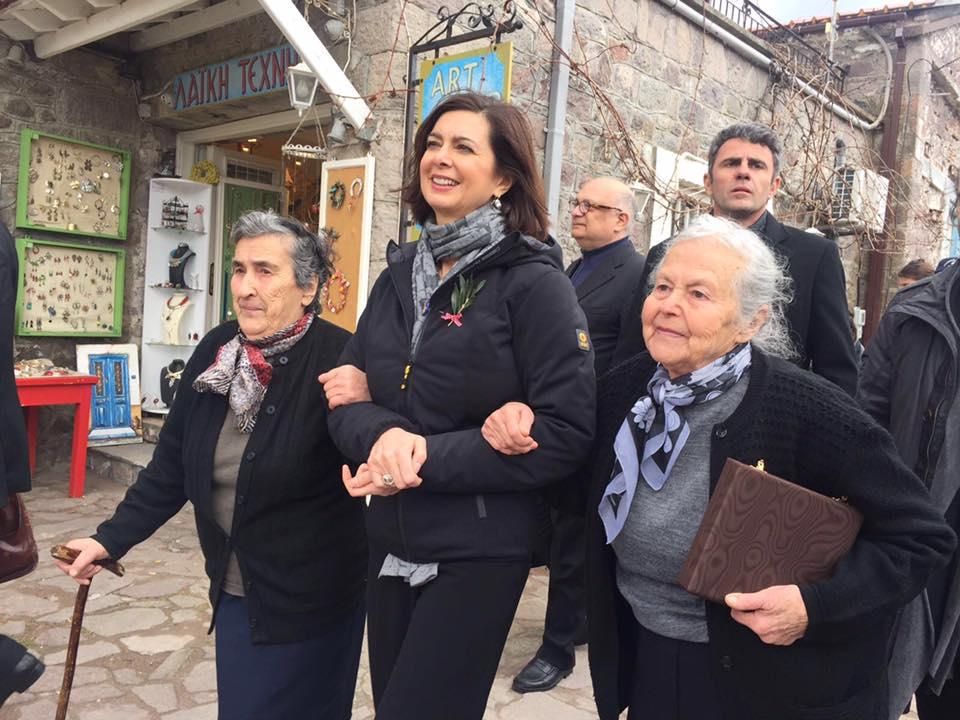 Boldrini a Lesbo