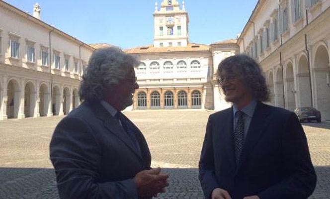 Beppe Grillo Gianroberto Casaleggio