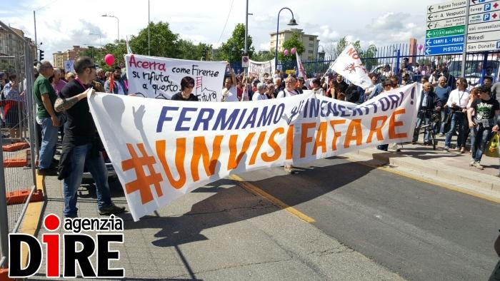 protesta inceneritore firenze 8