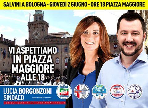 Salvini a Bologna, città blindata: