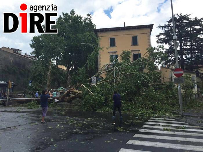 Tromba d'aria ad Arezzo, due feriti