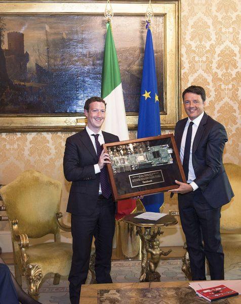Storico incontro tra Renzi e Zuckerberg: ecco cosa si sono detti