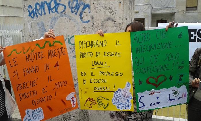 istituto Montessori protesta