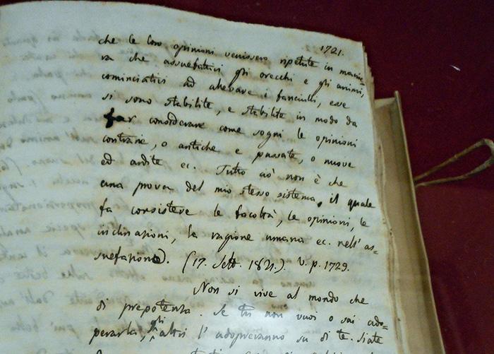 A Bologna manoscritti Leopardi di Visso