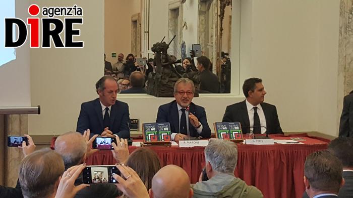 Referendum: Toti, Maroni e Zaia lanciano il comitato del No
