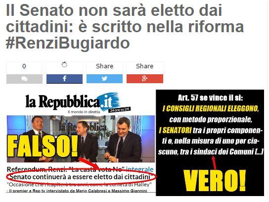 Referendum, Grillo: Denunciamo Renzi per false schede Senato