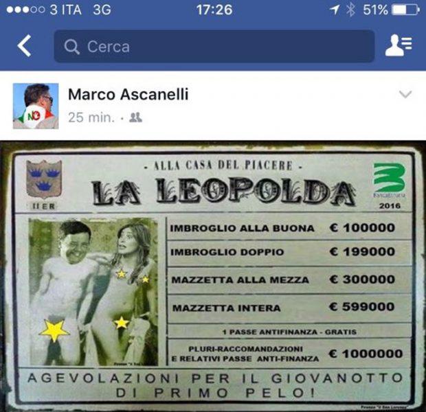 Referendum: post Anpi su 'Leopolda bordello', Morani 'ora basta'