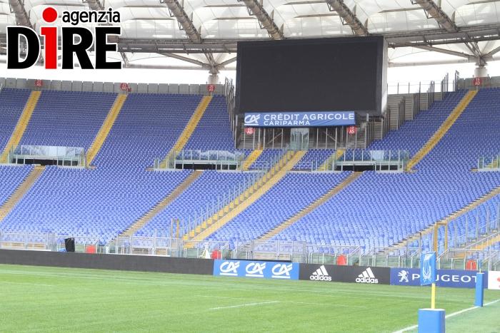divisione curve stadio Olimpico. foto di Paolo Pizzi