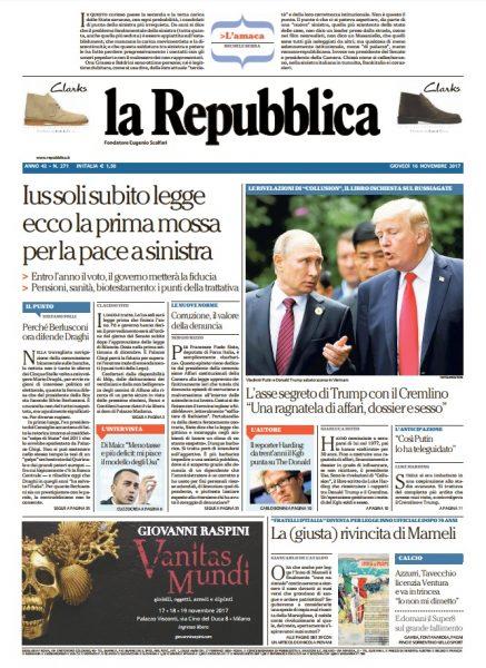 faaea3f324 Le prime pagine dei quotidiani di Giovedì 16 Novembre 2017 - DIRE.it