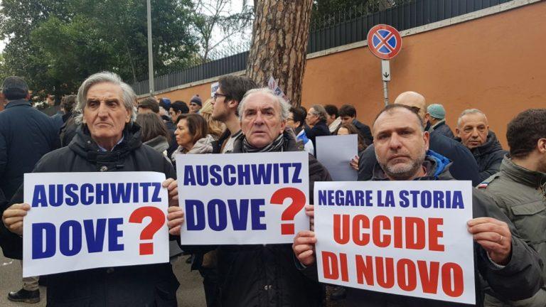 protesta comunità ebraica