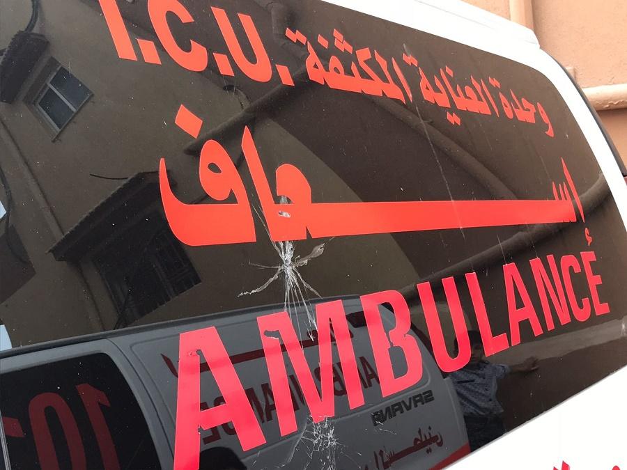 Danni da proiettile su un ambulanza Credit Tommaso Della Longa