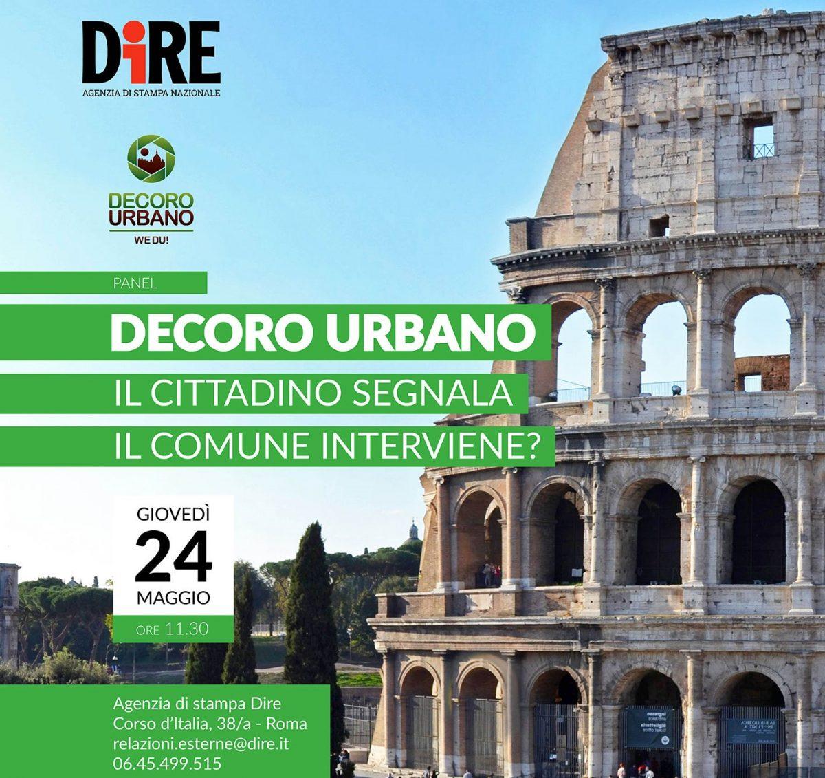 Ambiente il 24 maggio a roma la presentazione del for Ufficio decoro urbano roma