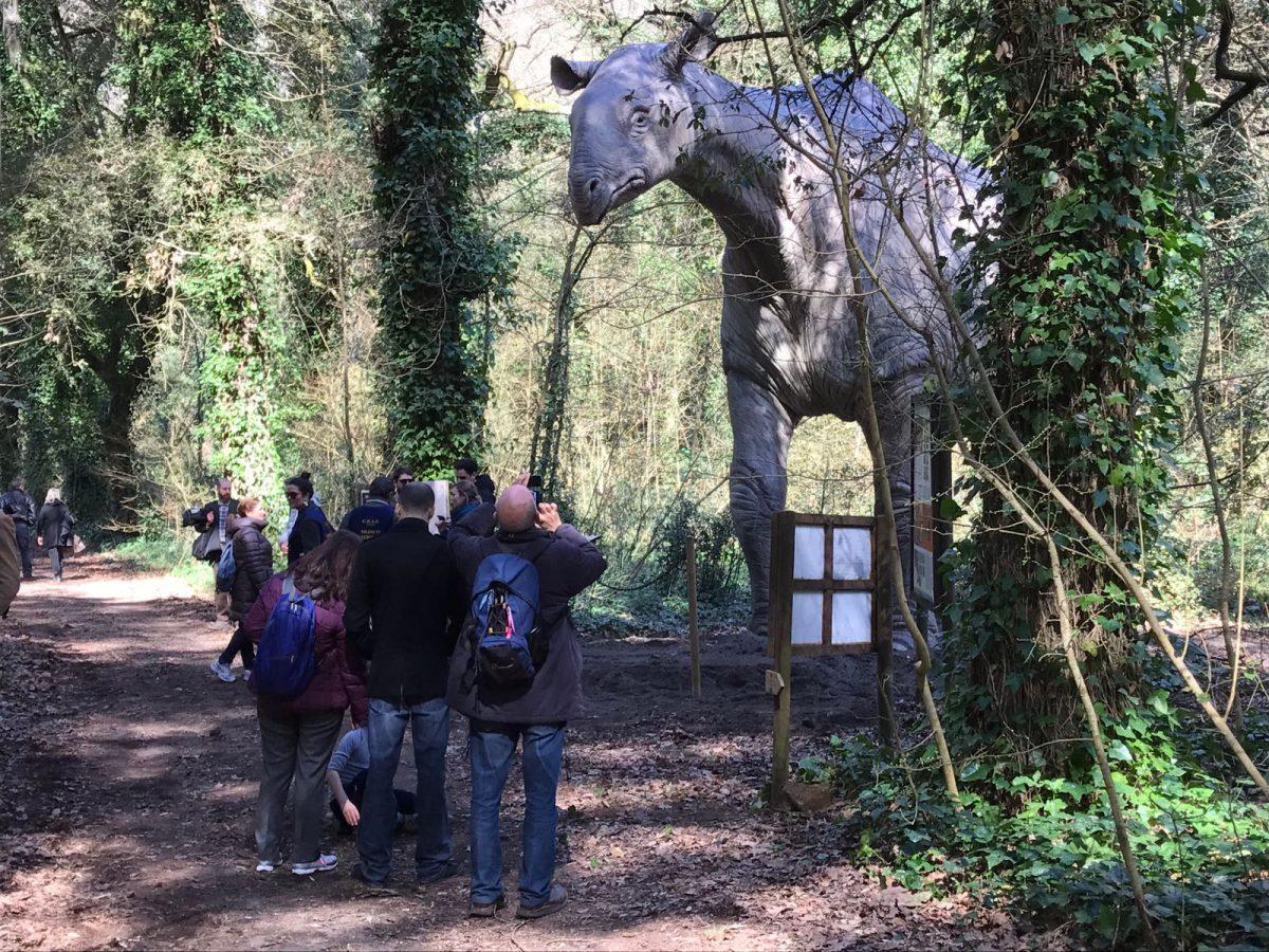 I dinosauri non si sono estinti… grazie al Wwf: eccone 24 giganti nell'oasi di Fiumicino