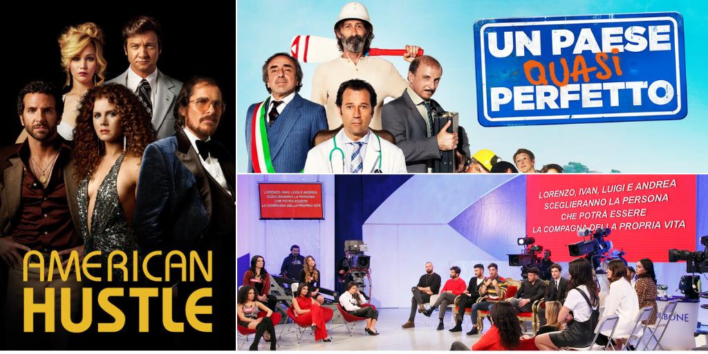 """""""American Hustle"""", """"Uomini e Donne – La scelta"""", """"Un paese quasi perfetto"""": tutti i programmi stasera in tv"""