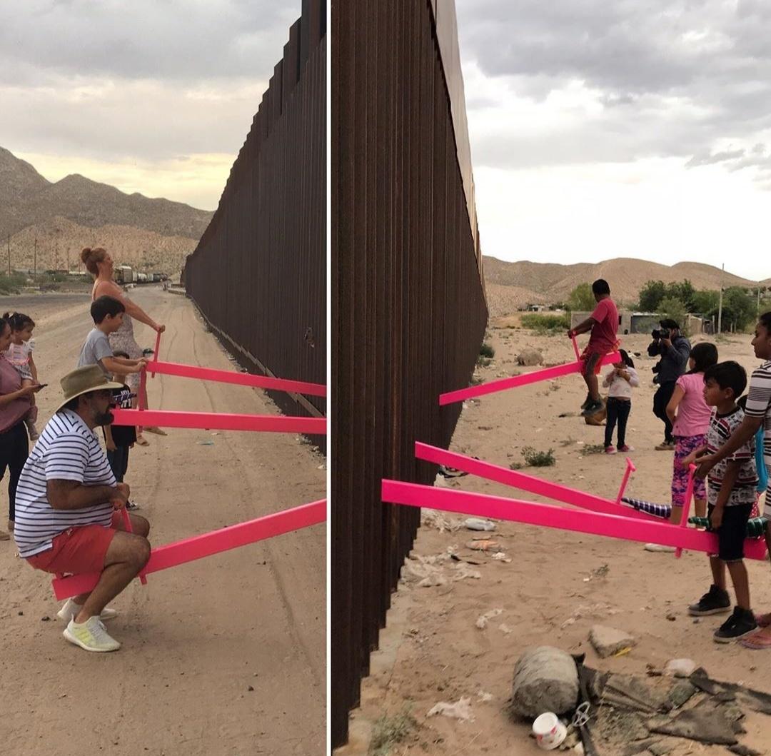 Come Abbattere Un Muro video | migranti, un'altalena 'abbatte' il muro tra messico