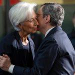 Il Presidente della BCE Mario Draghi con Chrisitne Lagarde, Presidente designata della Banca Centrale Europea
