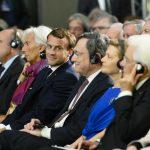 Christine Lagarde Emmanuel Macron Angela Merkel Mario Draghi