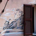 Borgo - murale con Fellini