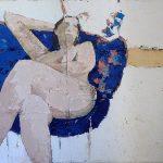 Asì te Amo - Ossidi, Gessi, Sabbie e Tele Antiche su tela 150x100cm- COLLEZIONE PRIVATA (1)