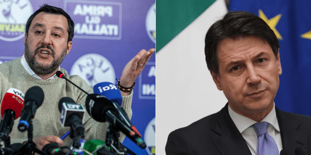 Matteo Salvini-Giuseppe Conte