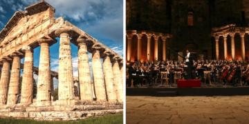 Riccardo Muti tra i templi di Paestum: «Serve armonia nei s