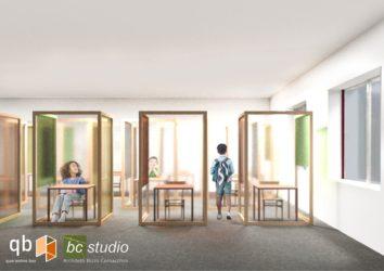plexiglass banchi_simulazione Bc Studio Mantova