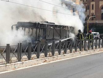 autobus atac in fiamme