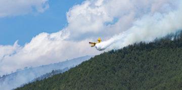 L'Aquila brucia ancora, 5 canadair provano a contenere le fiamme
