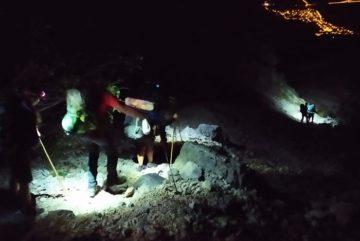 In Abruzzo il Soccorso Alpino recupera 7 scout romani bloccati sul Monte Velino