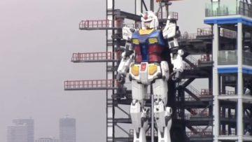 A Yokohama presentato il robot Gundam a grandezza naturale