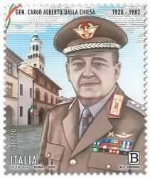 Nel centenario della nascita Poste Italiane dedica un francobollo a Carlo Alberto Dalla Chiesa