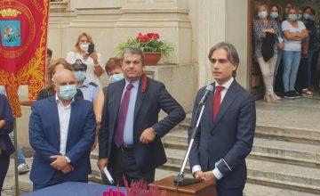 Giuseppe Falcomatà_proclamazione_piazza Italia