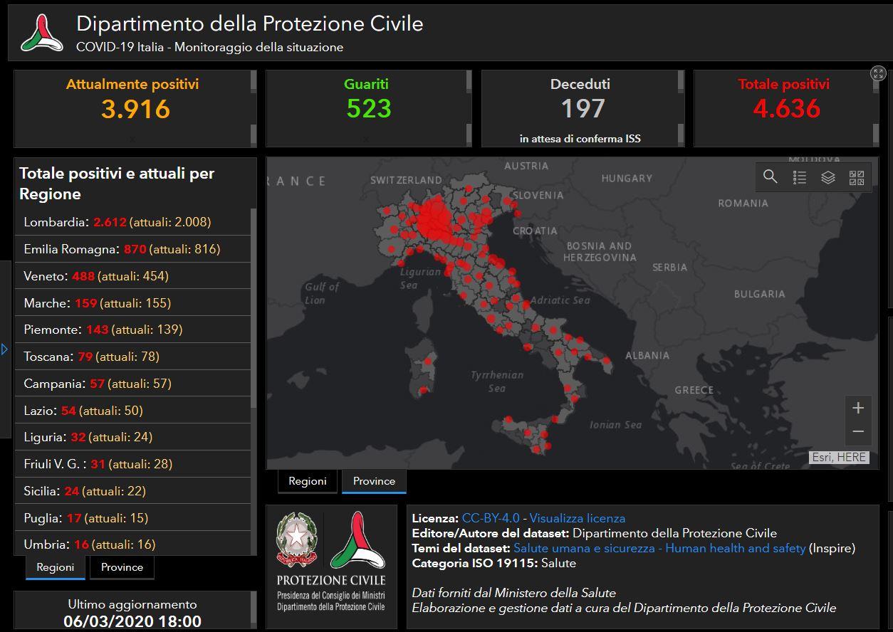 Coronavirus Online La Mappa Dei Contagi In Italia Dire It