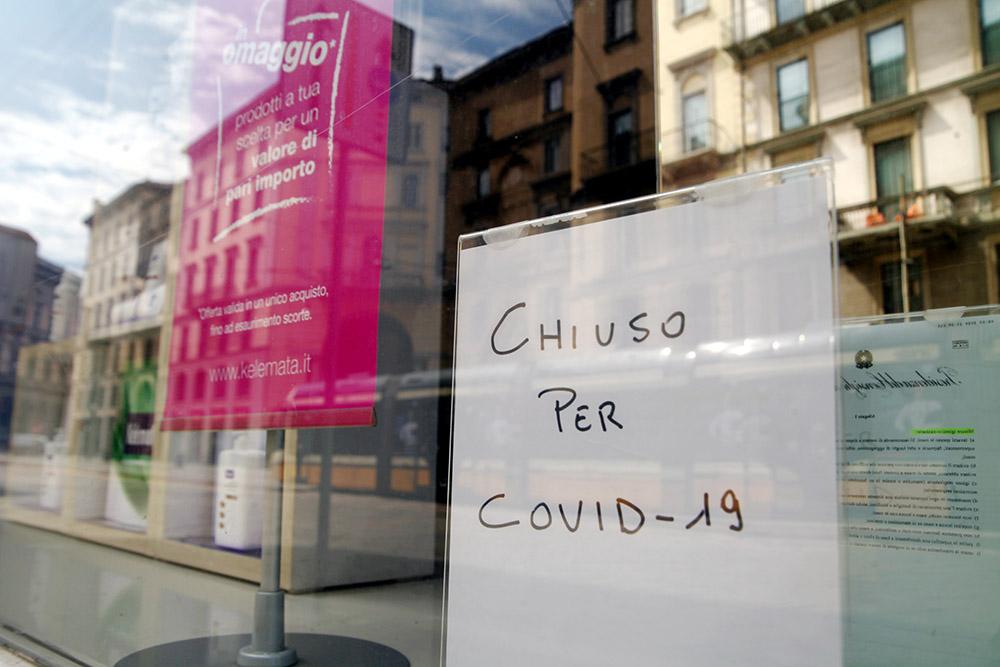 negozio chiuso covid