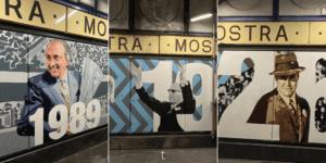 Stazione Mostra Maradona: inaugurati i murales di Ferlaino, Lauro e Ascarelli