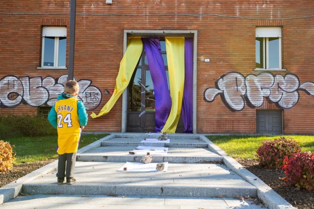 inaugurazione piazza Kobe e Gianna Bryant a Reggio Emilia