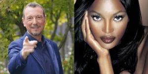 Naomi Campbell aprirà Sanremo 2021: co conduttrice al fianco di Amadeus