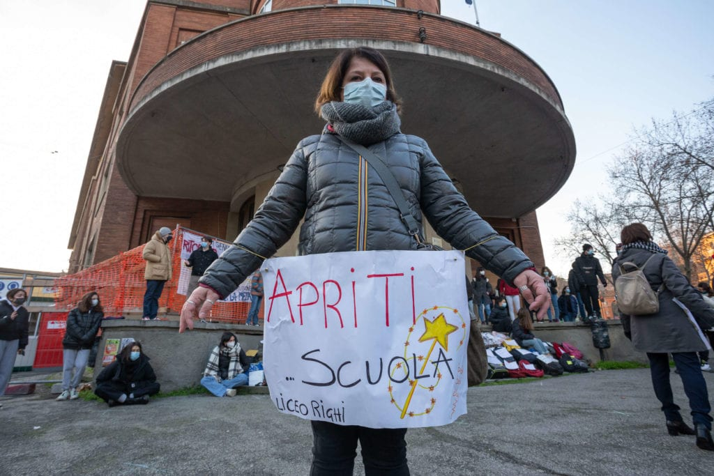 Protesta Liceo Righi Bologna