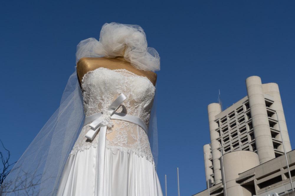 Manifestazione settore matrimoni sposi bologna