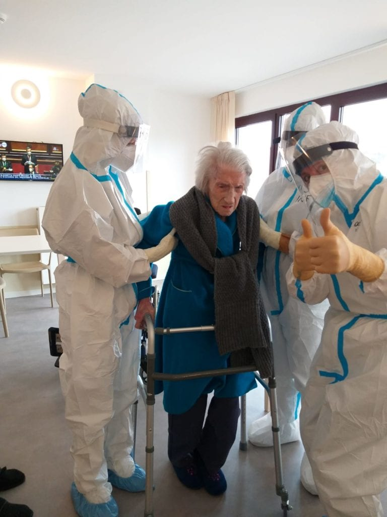 anziana guarita trieste 107 anni covid