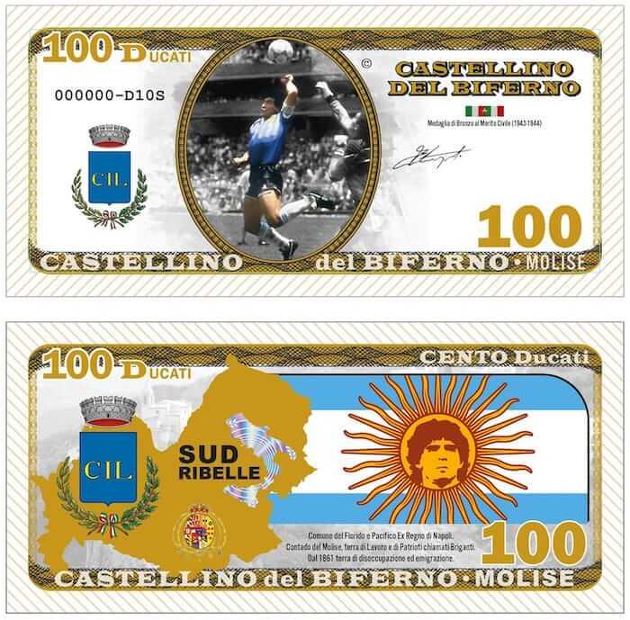 maradona banconote