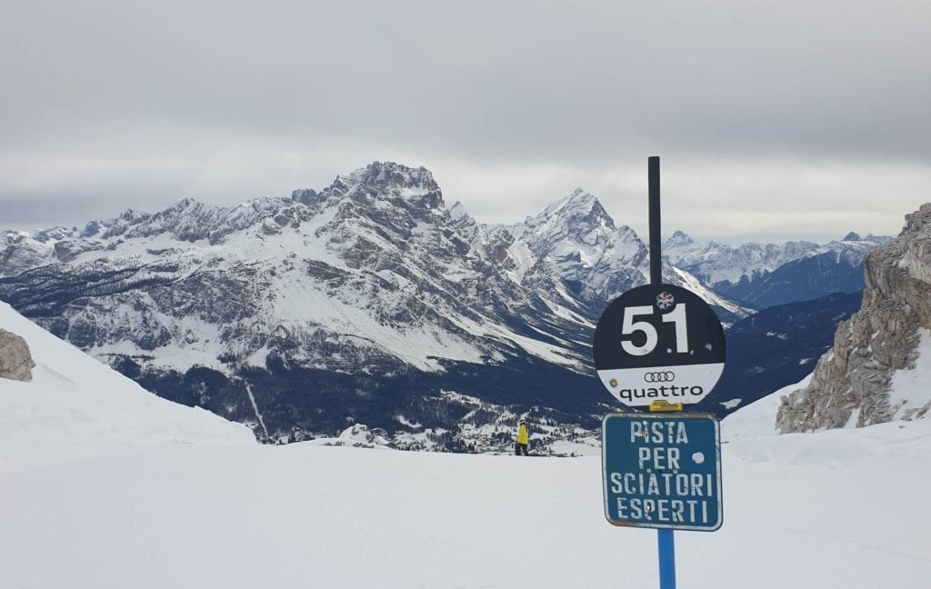 piste da sci neve