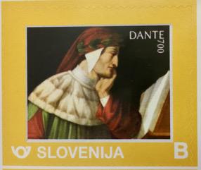 Dante francobollo dipinto Runcaldier