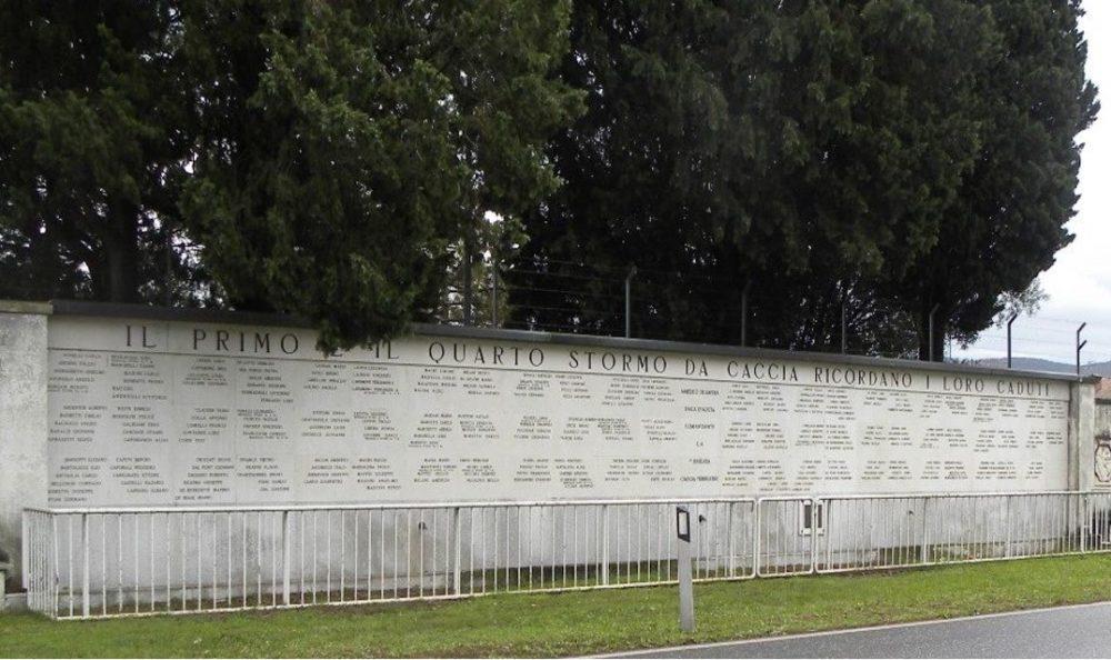 parete commemorativa ai Caduti del Primo e Quarto Stormo Caccia Gorizia
