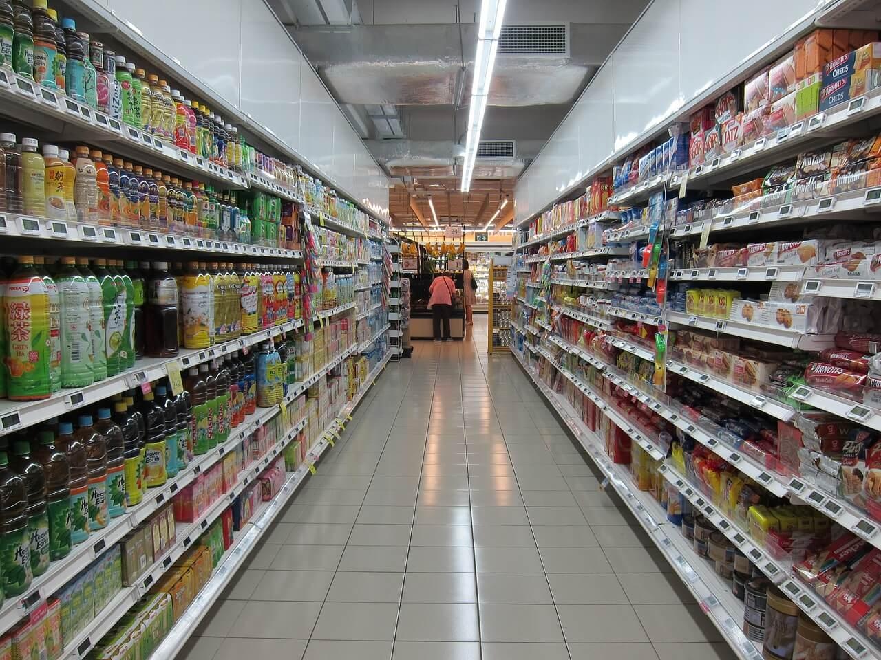 supermercato corsie spesa