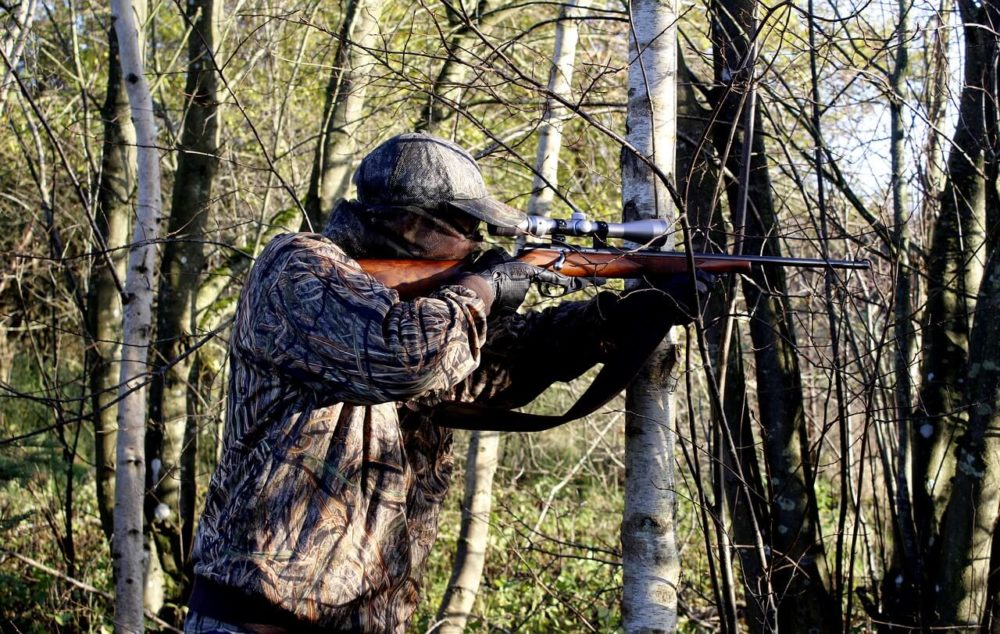 cacciatore caccia fucile bosco